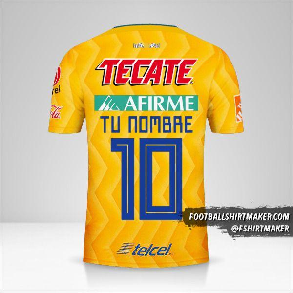 Camiseta Tigres UANL 2018/19 número 10 tu nombre