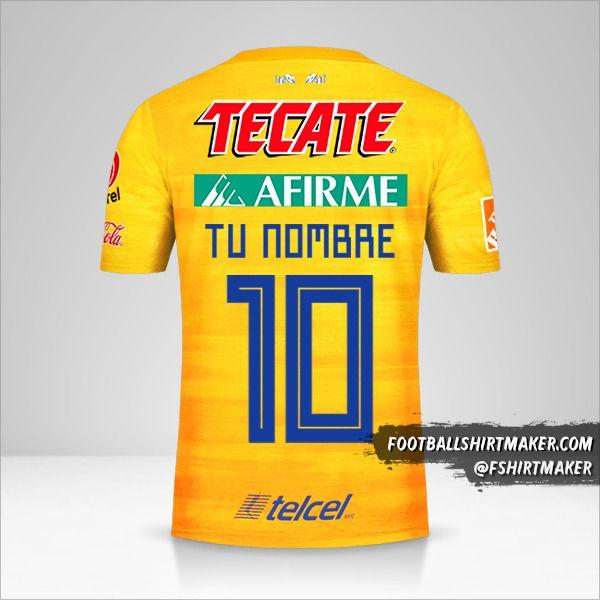 Camiseta Tigres UANL 2019/20 número 10 tu nombre