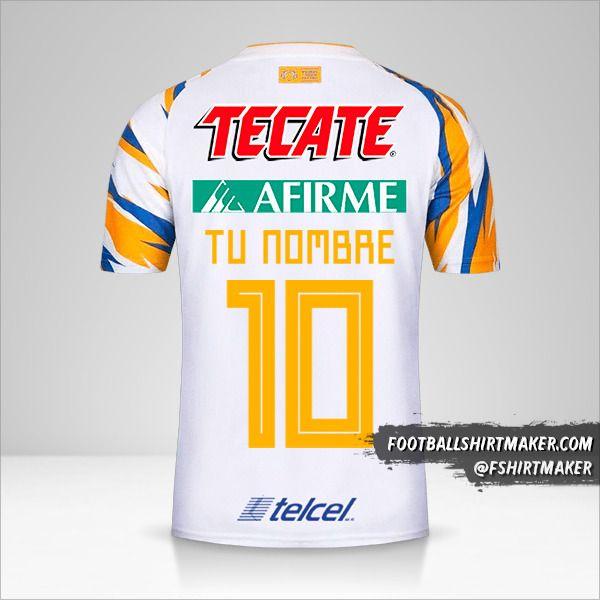 Camiseta Tigres UANL 2019 III número 10 tu nombre