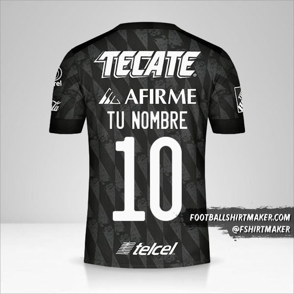 Camiseta Tigres UANL 2020 III número 10 tu nombre