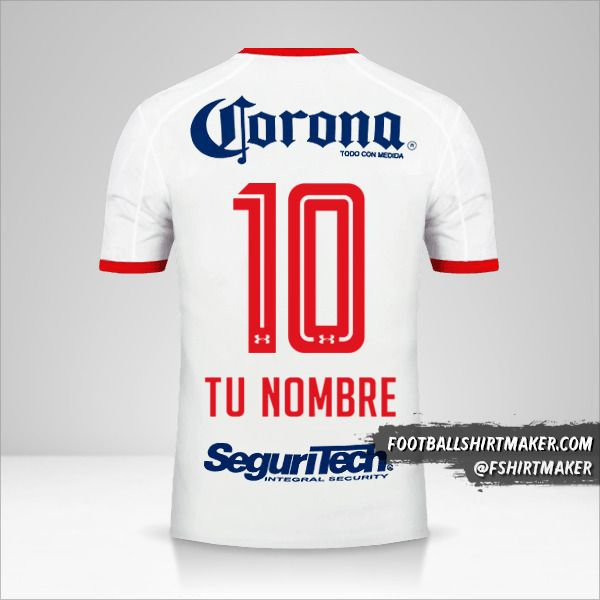 Camiseta Toluca FC 2017/18 II número 10 tu nombre