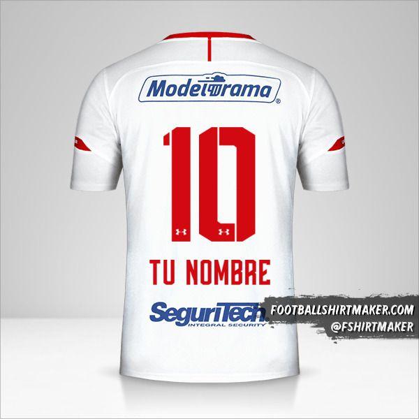 Camiseta Toluca FC 2019/20 II número 10 tu nombre