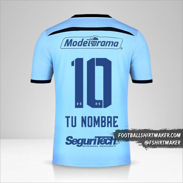 Camiseta Toluca FC 2019/20 III número 10 tu nombre