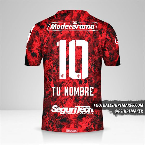 Camiseta Toluca FC 2021 número 10 tu nombre