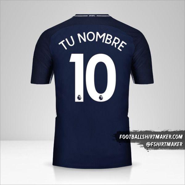 Camiseta Tottenham Hotspur 2017/18 II número 10 tu nombre