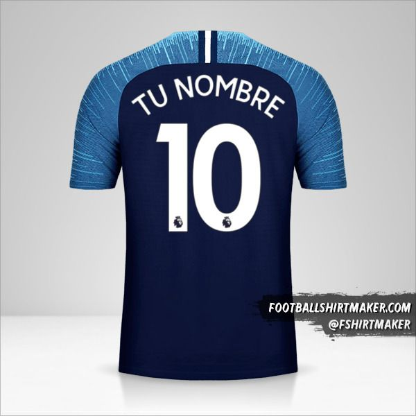 Camiseta Tottenham Hotspur 2018/19 II número 10 tu nombre