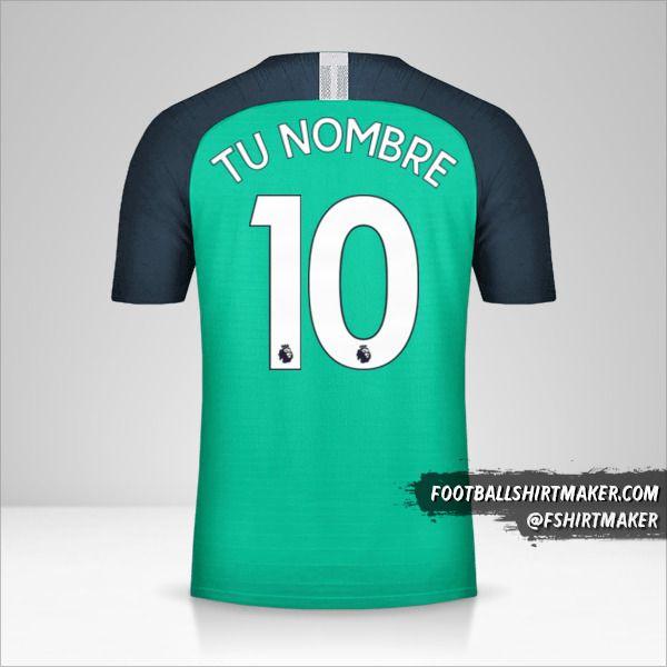 Camiseta Tottenham Hotspur 2018/19 III número 10 tu nombre