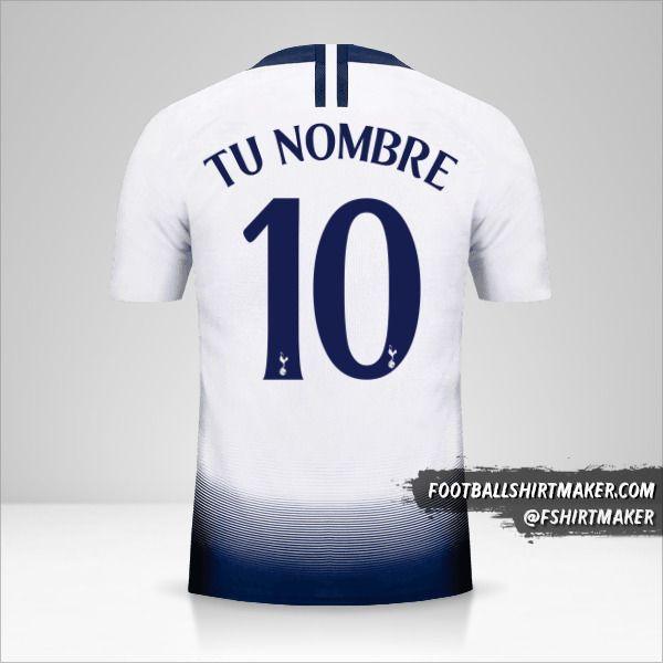 Camiseta Tottenham Hotspur 2018/19 Cup número 10 tu nombre