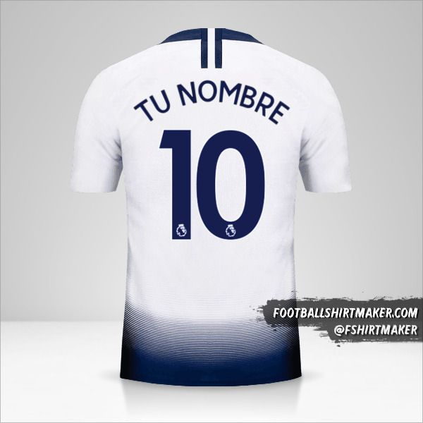 Camiseta Tottenham Hotspur 2018/19 número 10 tu nombre