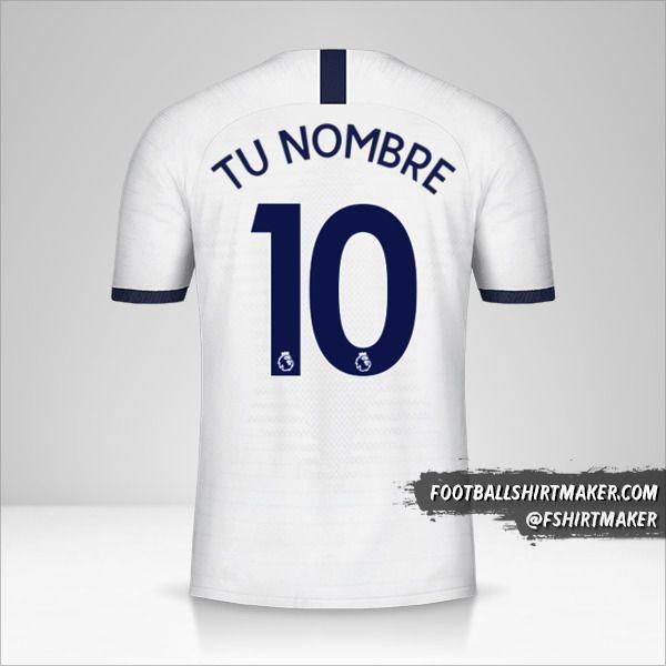 Camiseta Tottenham Hotspur 2019/20 número 10 tu nombre