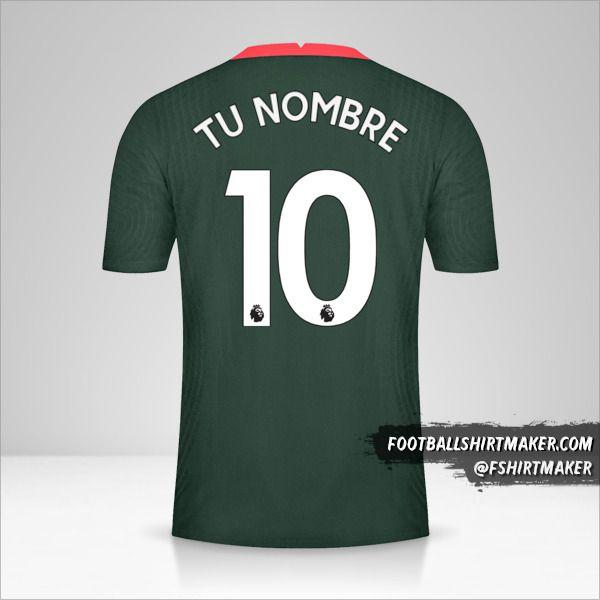 Camiseta Tottenham Hotspur 2020/21 II número 10 tu nombre
