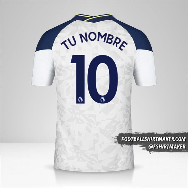 Camiseta Tottenham Hotspur 2020/21 número 10 tu nombre