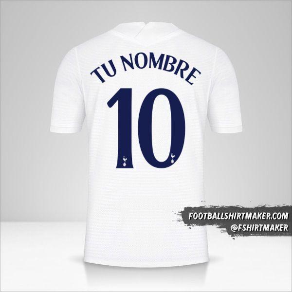 Camiseta Tottenham Hotspur 2021/2022 Cup número 10 tu nombre