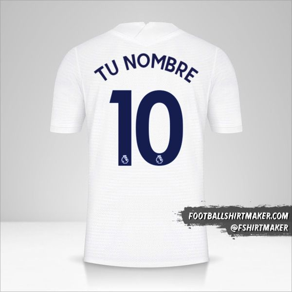 Camiseta Tottenham Hotspur 2021/2022 número 10 tu nombre