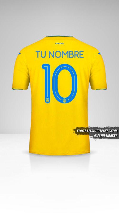 Camiseta Ucrania 2018/19 número 10 tu nombre