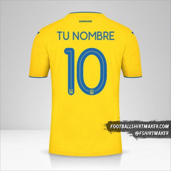 Camiseta Ucrania 2020 número 10 tu nombre
