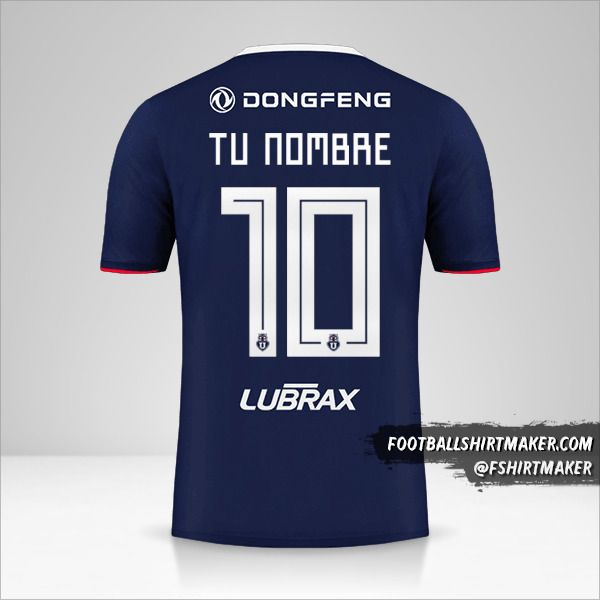 Camiseta Universidad de Chile 2019 número 10 tu nombre
