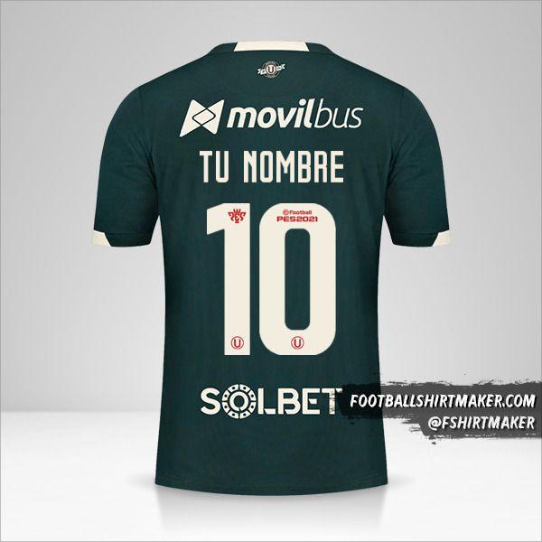 Camiseta Universitario 2021 II número 10 tu nombre