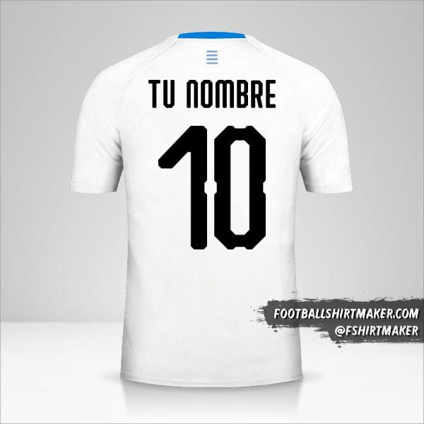 Camiseta Uruguay 2018 II número 10 tu nombre