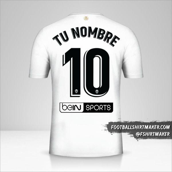 Camiseta Valencia CF 2018/19 número 10 tu nombre