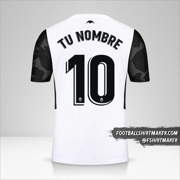 Camiseta Valencia CF 2021/2022 número 10 tu nombre