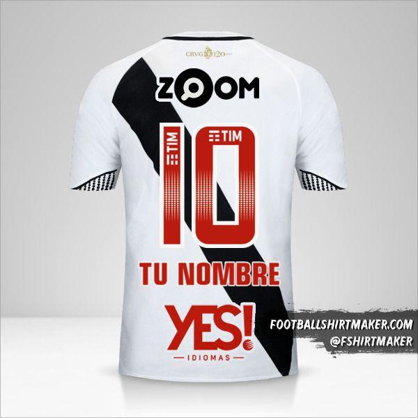 Camiseta Vasco da Gama 2018 II número 10 tu nombre