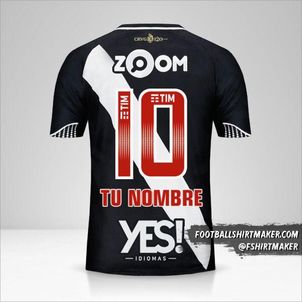 Camiseta Vasco da Gama 2018 número 10 tu nombre