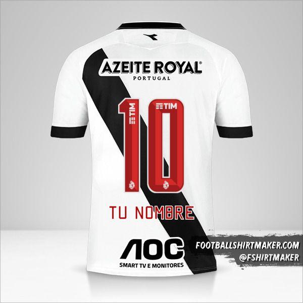 Camiseta Vasco da Gama 2019/20 II número 10 tu nombre