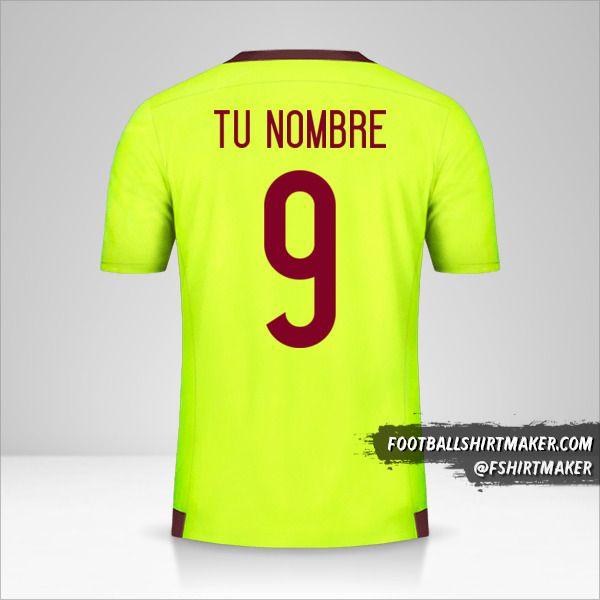 Camiseta Venezuela 2015/17 II número 9 tu nombre