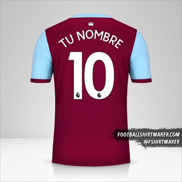 Camiseta West Ham United FC 2019/20 número 10 tu nombre
