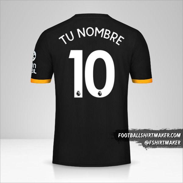 Camiseta Wolverhampton Wanderers 2019/20 II número 10 tu nombre